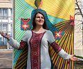 Леся Сінчук біля Житомирського обласного центру науково-технічної творчості молоді