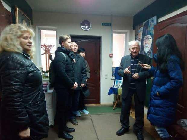 Борис Войцехівський в музеї ім. Івана Огієнка
