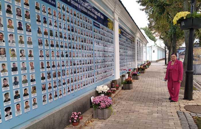Покладання квітів воїнам-захисникам Української держави 13 жовтня 20202 року