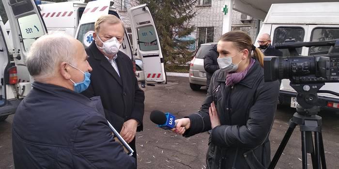 Віктор Михайлович Барановський дає інтерв'ю житомирському телебаченню