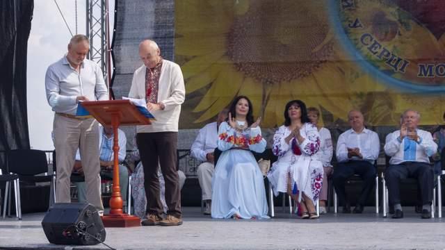 Підписання меморандуму на урочистому заході на Співочому полі - «Рушник Єднання»