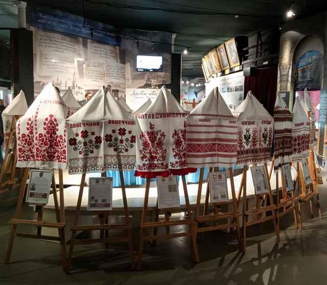 «Рушник Єднання» в залі музею «Становлення української нації»