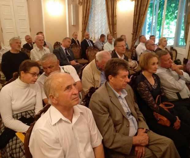 Віктор Михайлович Барановський на церемонії передачі координаторства